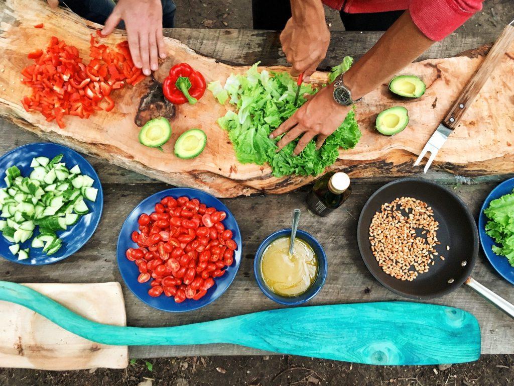 cắt thái các loại rau củ quả